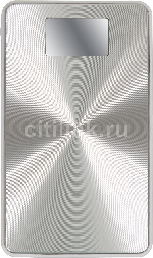 Внешний аккумулятор KS-IS KS-245,  13800мAч,  серебристый/белый [ks-245silver]