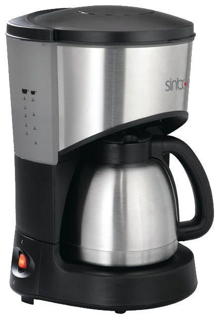Кофеварка SINBO SCM 2921,  капельная,  серебристый