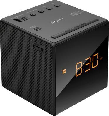 Радиобудильник SONY ICF-C1, оранжевая подсветка,  черный
