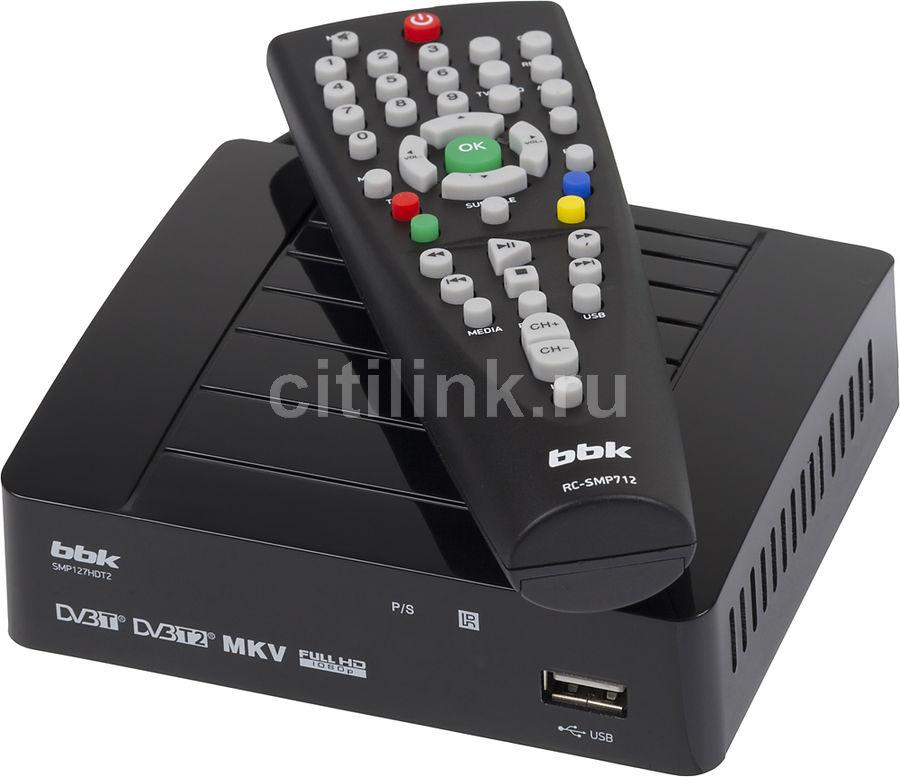Ресивер DVB-T2 BBK SMP127HDT2,  черный [smp127hdt2 чер]