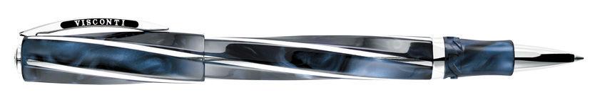 Ручка роллер Visconti DIVINA Elegance Over VS-264-18 синяя смола, вставки 925 серебро [26418]