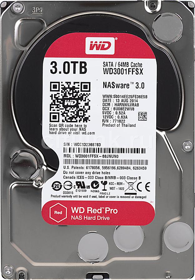 Жесткий диск WD Red Pro WD3001FFSX,  3Тб,  HDD,  SATA III,  3.5