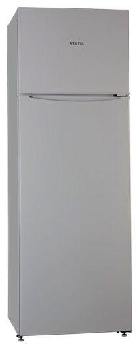 Холодильник VESTEL VDD 345 VS,  двухкамерный,  серебристый