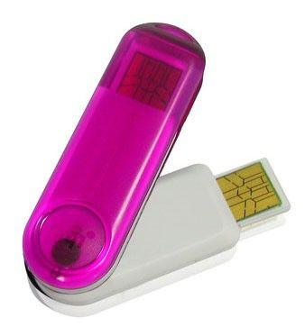 Флешка USB PQI Traveling Disk i261 1Гб, USB2.0, розовый