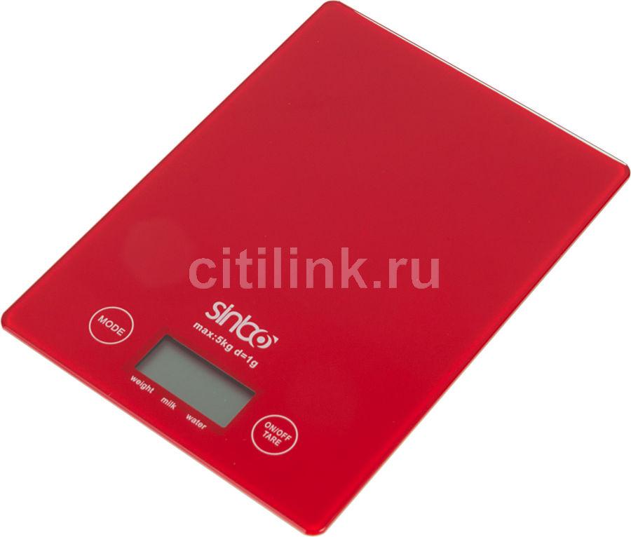 Весы кухонные SINBO SKS 4519,  красный