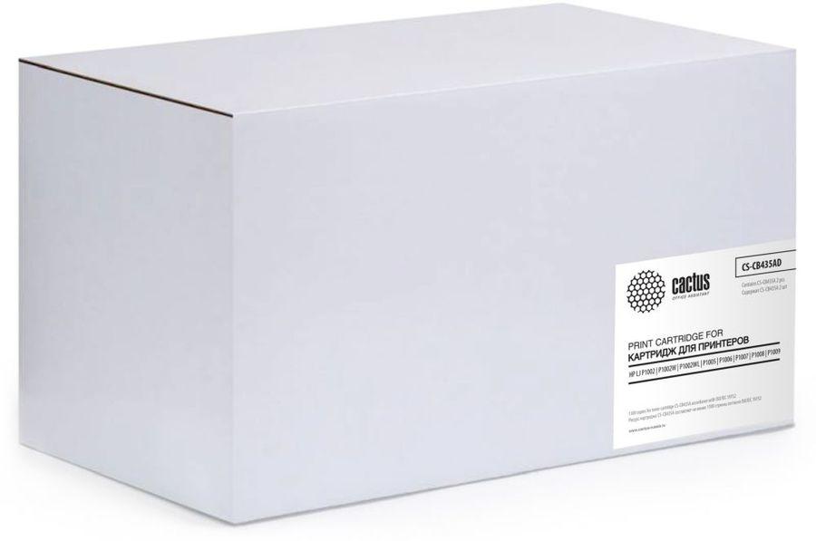 Двойная упаковка картриджей CACTUS CS-CB435AD черный