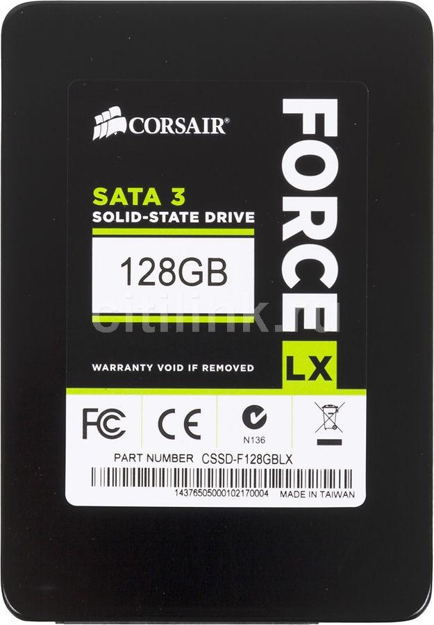 Накопитель SSD CORSAIR Force CSSD-F128GBLX 128Гб, 2.5