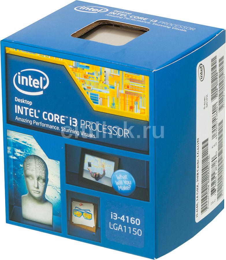 Процессор INTEL Core i3 4160, LGA 1150 BOX [bx80646i34160 s r1pk]