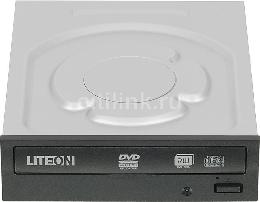 Оптический привод DVD-RW LITE-ON IHAS324, внутренний, SATA, черный,  Ret