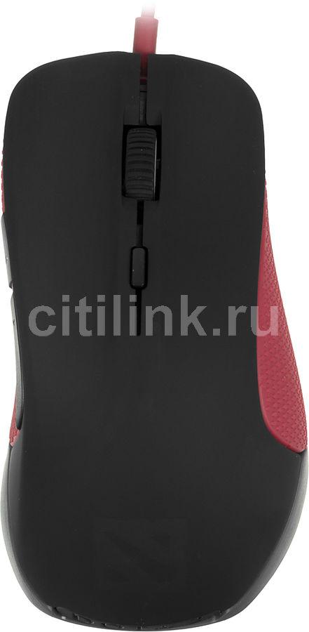 Мышь STEELSERIES Rival Dota 2 оптическая проводная USB, черный и красный [62273]