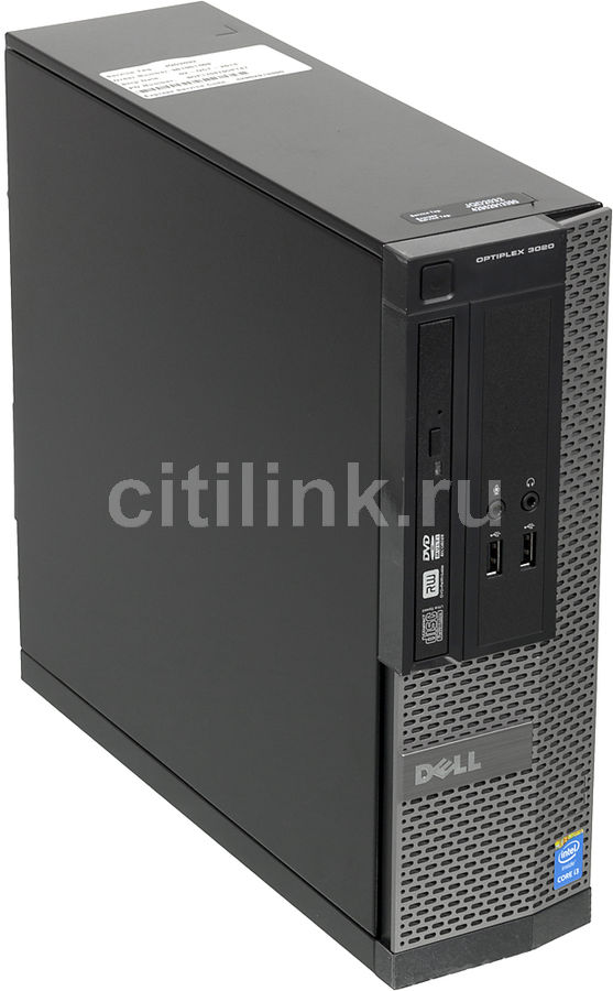 Компьютер  DELL Optiplex 3020 SFF,  Intel  Core i3  4150,  DDR3 4Гб, 500Гб,  Intel HD Graphics 4400,  DVD-RW,  Windows 7 Professional,  черный и серебристый [3020-3319]