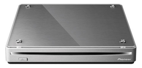 Оптический привод Blu-Ray RE PIONEER BDR-XS05T, внешний, USB, серебристый,  Ret
