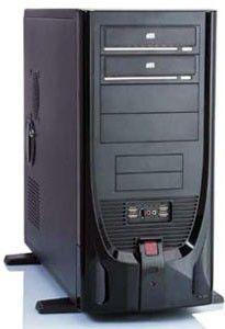 Корпус ATX FOXCONN TP-841, 500Вт,  черный