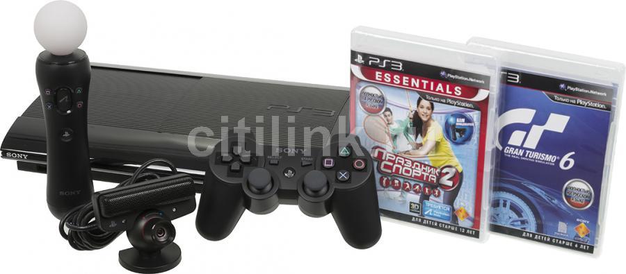 Игровая консоль SONY PlayStation 3 PS719435310, черный