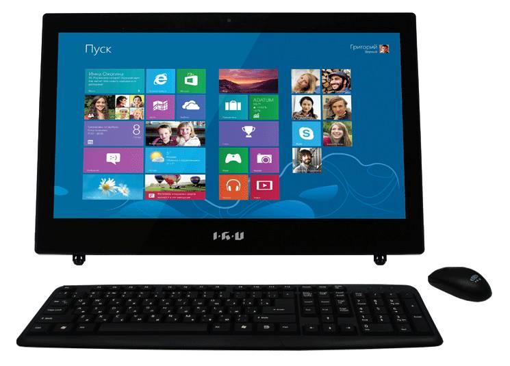 Моноблок IRU L1801, Intel Celeron 1037U, 4Гб, 500Гб, Intel HD Graphics, DVD-RW, noOS, черный [949053]