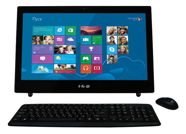 Моноблок IRU L1801, Intel Celeron 1037U, 4Гб, 500Гб, Intel HD Graphics, DVD-RW, Windows 8.1 Professional, черный [949055]