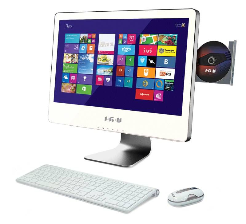 Моноблок IRU T2106, Intel Core i3 4130, 4Гб, 1Тб, nVIDIA GeForce GT740 - 1024 Мб, DVD-RW, Windows 7 Professional, белый [949060]