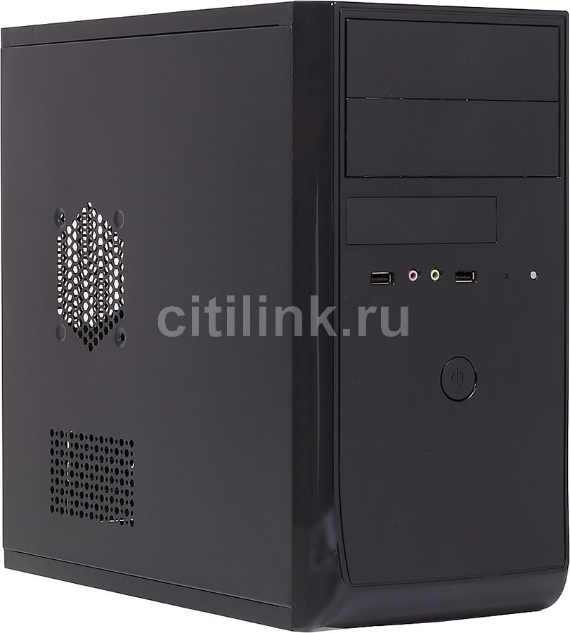 Корпус mATX EZCOOL ME-880B, Mini-Tower, без БП,  черный