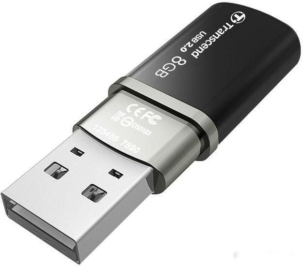 Флешка USB TRANSCEND Jetflash 320K 8Гб, USB2.0, черный [ts8gjf320k]