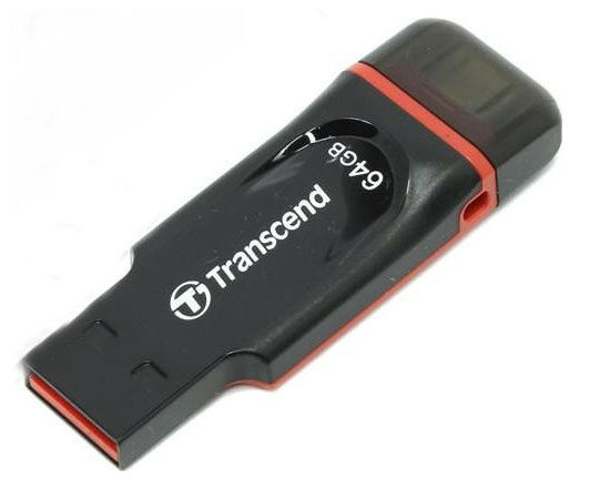 Флешка USB TRANSCEND Jetflash 340 64Гб, USB2.0, черный [ts64gjf340]