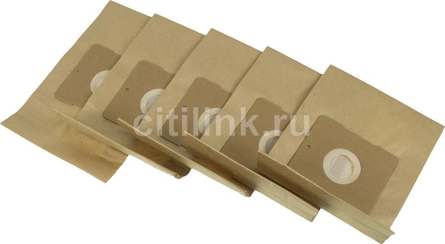 Пылесборники FILTERO DAE 01 Standard,  двухслойные,  5 шт., для пылесосов DAEWOO, ALPINA, AKIRA, BEKO, DE LONGHI, ELEKTA, EVGO, ELENBERG, HYUNDAI, KENWOOD, MELLISSA, POLARIS