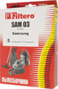 Пылесборники FILTERO SAM 03 Standard,  двухслойные,  5 шт., для пылесосов SAMSUNG, AKIRA вид 2