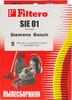 Пылесборники FILTERO SIE 01 Standard,  двухслойные,  5 шт., для пылесосов SIEMENS, BOSCH вид 2