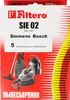 Пылесборники FILTERO SIE 02 Standard,  двухслойные,  5 шт., для пылесосов SIEMENS, BOSCH вид 3