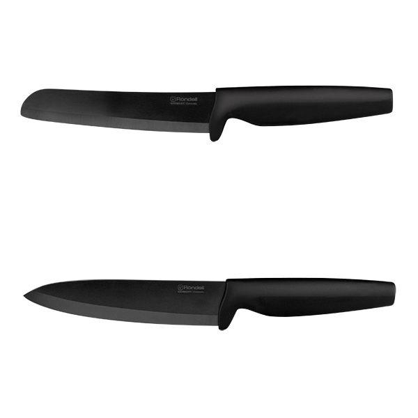 Набор ножей Rondell Damian White RD-464 керамика черная