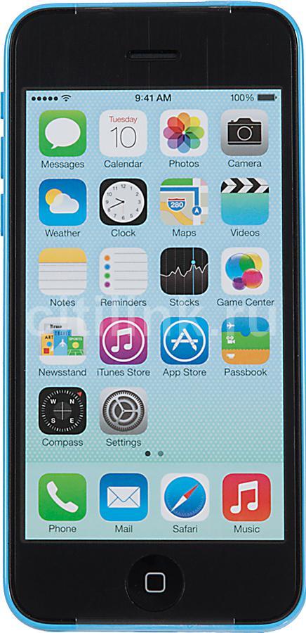 Смартфон APPLE iPhone 5c MG902RU/A  8Gb, голубой