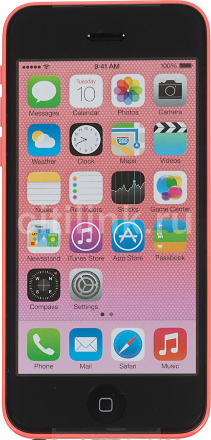 Смартфон APPLE iPhone 5c MG922RU/A  8Gb, розовый