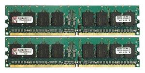 Модуль памяти KINGSTON KVR800D2N6K2/2G DDR2 -  2x 1Гб 800, DIMM,  Ret