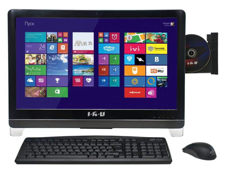 Моноблок IRU T2302, Intel Pentium G3220, 4Гб, 500Гб, Intel HD Graphics, DVD-RW, Windows 8.1, черный [950376]