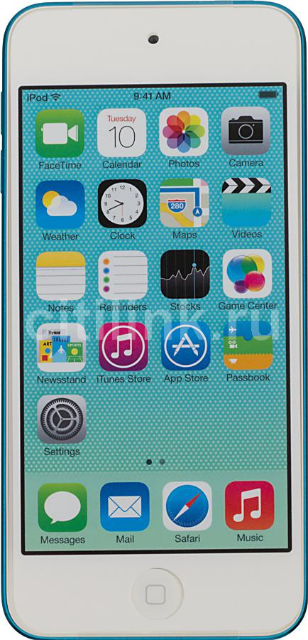 MP3 плеер APPLE iPod touch 5 flash 16Гб голубой/белый [mgg32ru/a]