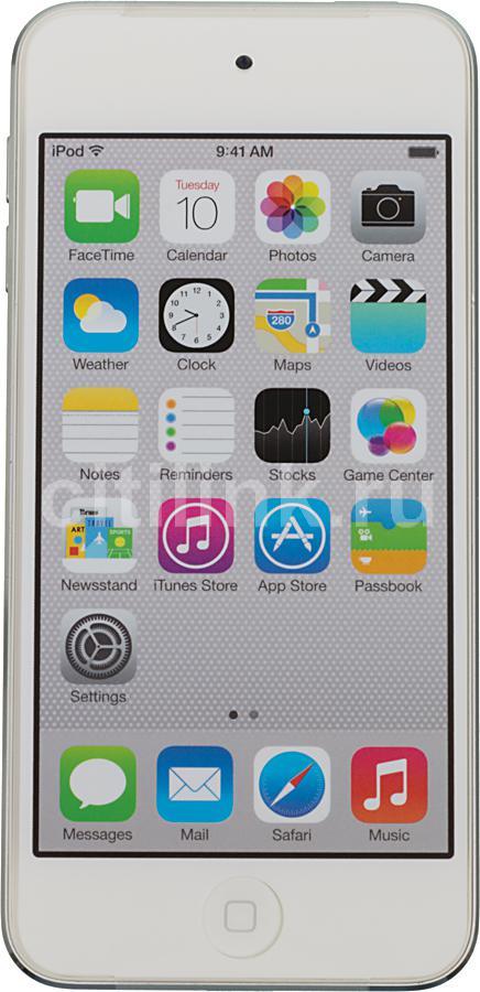 MP3 плеер APPLE iPod touch 5 flash 16Гб серебристый/белый [mgg52ru/a]