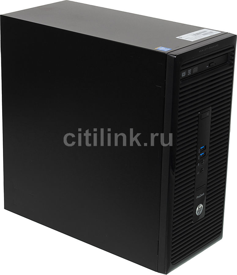 Компьютер  HP ProDesk 400 G2,  Intel  Pentium  G3240,  DDR3 4Гб, 500Гб,  Intel HD Graphics,  DVD-RW,  Windows 7 Professional,  черный [j4b20ea]