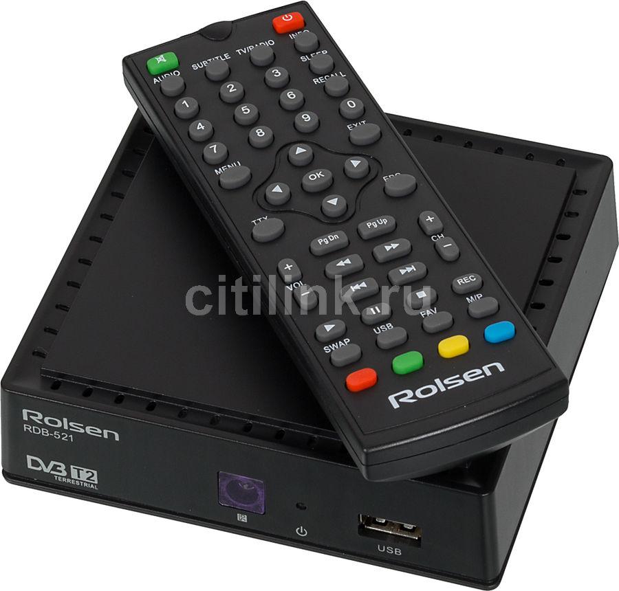 Ресивер DVB-T2 ROLSEN RDB-521,  черный [1-rldb-rdb-521]