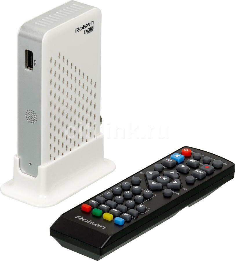 Ресивер DVB-T2 ROLSEN RDB-519W,  белый [1-rldb-rdb-519w]