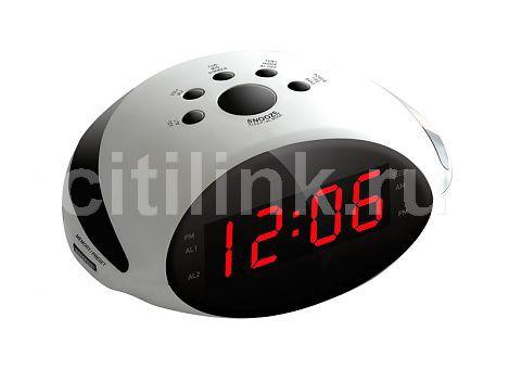 Радиобудильник ROLSEN CR-170W, красная подсветка,  белый