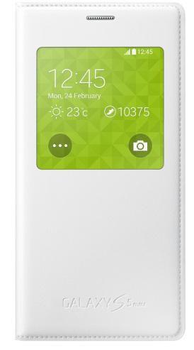 Чехол (флип-кейс) SAMSUNG S View, для Samsung Galaxy S5 mini, белый [ef-cg800bwegru]