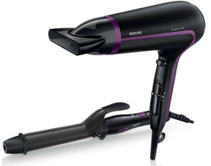 Фен PHILIPS HP8641/00, 2100Вт, черный и фиолетовый