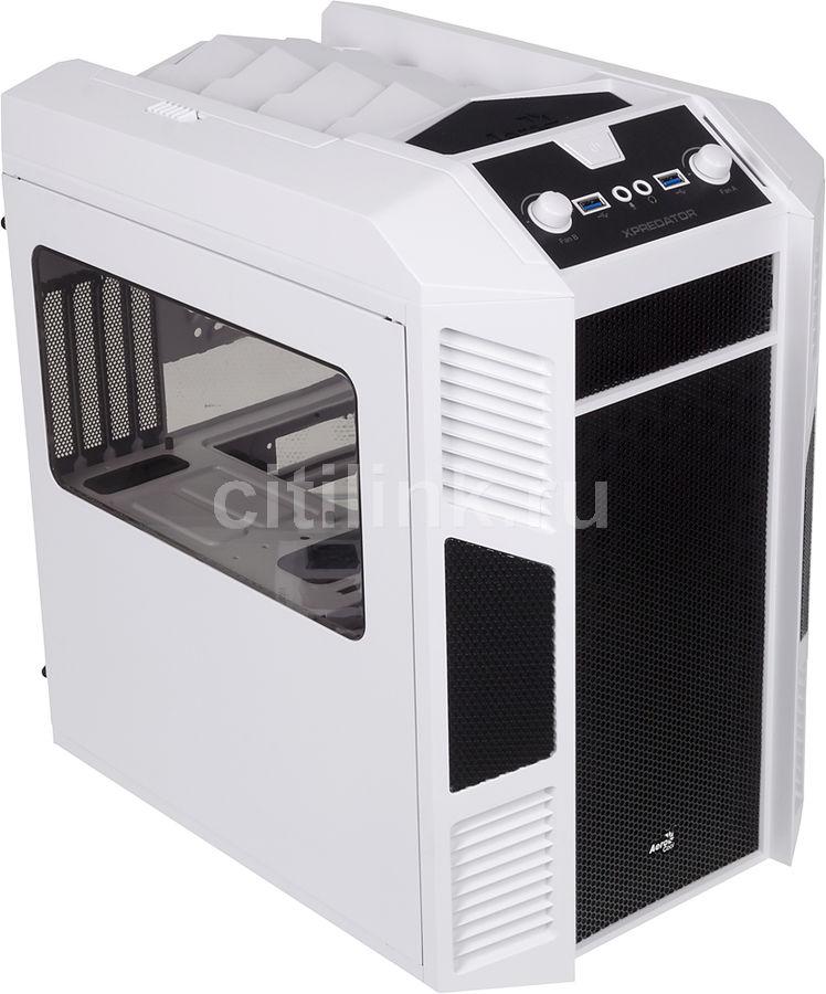 Корпус mATX AEROCOOL Xpredator Cube, Mini-Tower, без БП,  белый и черный