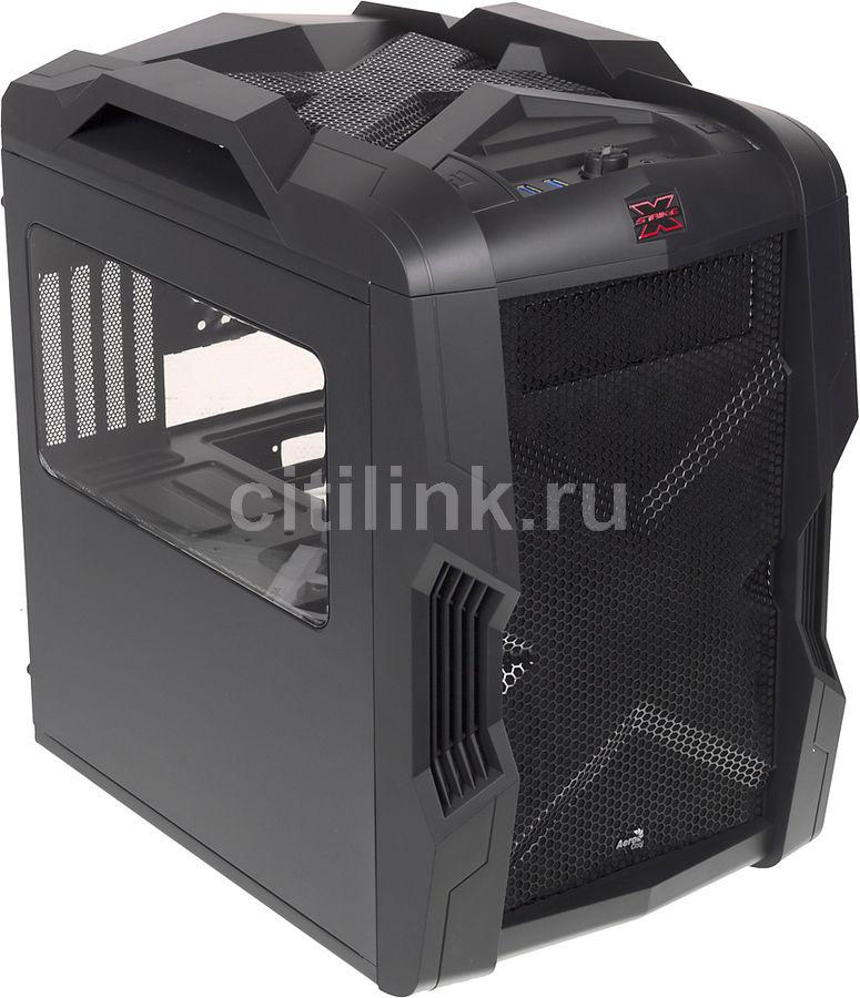 Корпус mATX AEROCOOL Strike-X Cube, Mini-Tower, без БП,  черный
