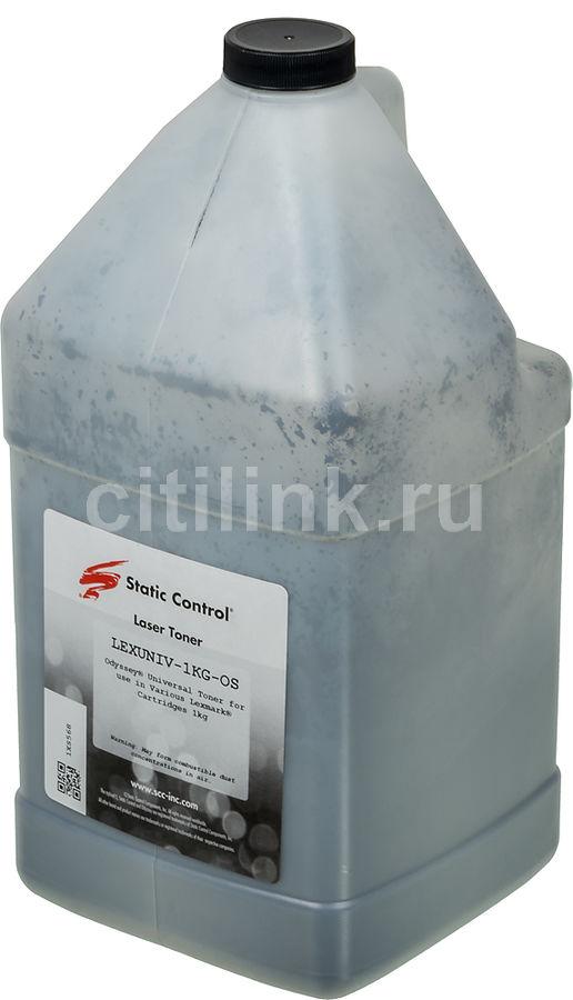 Тонер STATIC CONTROL LEXUNIV-1KG-OS,  для Lexmark T420/422/650,  черный, 1000грамм, флакон
