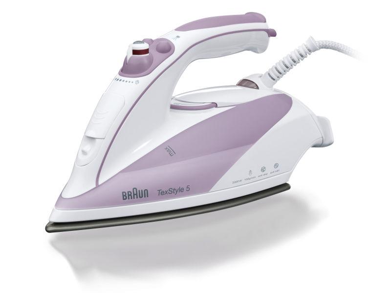 Утюг BRAUN TS505,  2000Вт,  белый/ фиолетовый [0x12711014]