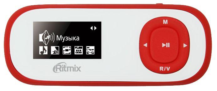 MP3 плеер RITMIX RF-3400 flash 4Гб белый/красный [15117103]