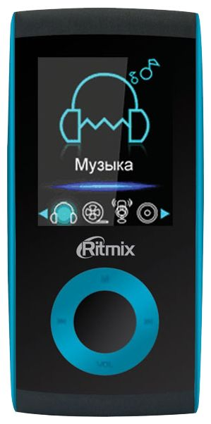 MP3 плеер RITMIX RF-4400 CY flash 4Гб голубой [15115329]