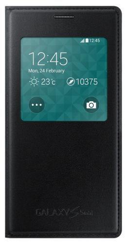 Чехол (флип-кейс) SAMSUNG S View, для Samsung Galaxy S5 mini, черный [ef-cg800bbegru]