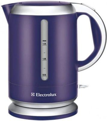 Чайник электрический ELECTROLUX EEWA3130PU, 2200Вт, фиолетовый и серебристый