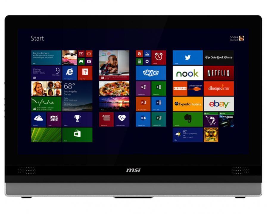 Моноблок MSI Adora 2M-081RU, Intel Core i3 4100M, 8Гб, 1000Гб, Intel HD Graphics 4600, DVD-RW, Windows 8.1, черный и серебристый [9s6-ae6313-081]